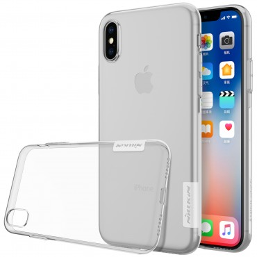 "Premium tenký kryt ""Nature"" pro iPhone X - průhledný"