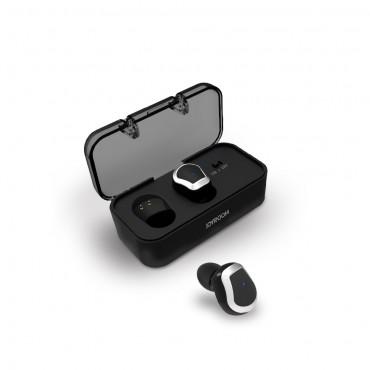 """Bezdrátová Bluetooth sluchátka """"Chrome"""" s přenosným nabíjecím pouzdrem - černá"""
