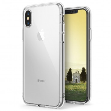"""Kryt Ringke """"Fusion"""" pro iPhone X - crystal view"""