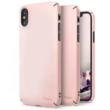 """Kryt Ringke """"Slim"""" pro iPhone X - peach pink"""