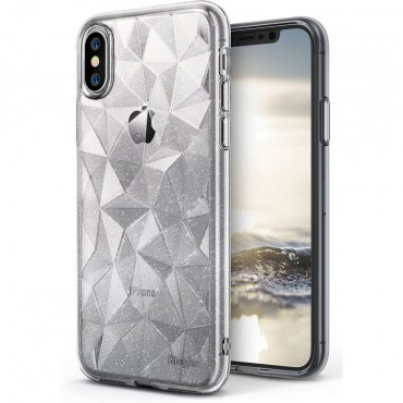 """Obal Ringke """"Air Prism"""" pro iPhone X - průhledný s třpytkami"""