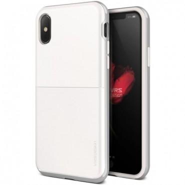 """Obal VRS Design """"High Pro Shield"""" pro iPhone X / XS - bíle stříbrný"""