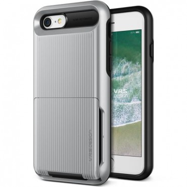 "Kryt VRS Design ""Damda Folder"" pro iPhone 8 / iPhone 7 - silver"