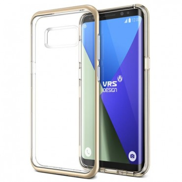 """Obal VRS Design """"Crystal Bumper"""" pro Samsung Galaxy S8 - zářivě zlatý"""