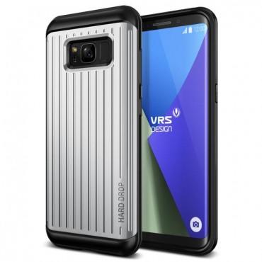 """Obal VRS Design """"Thor"""" pro Samsung Galaxy S8 - světle stříbrný s vlnkami"""