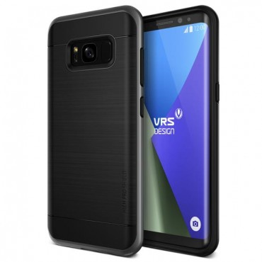 "Kryt VRS Design ""High Pro Shield"" pro Samsung Galaxy S8 Plus - dark silver"