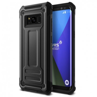"Obal VRS Design ""Terra Guard"" pro Samsung Galaxy S8 Plus - tmavě stříbrný"