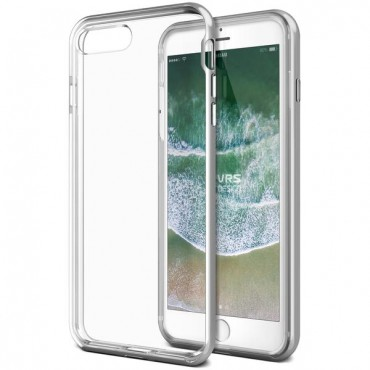 "Obal VRS Design ""Crystal Bumper"" pro iPhone 8 Plus / iPhone 7 Plus - stříbrný"