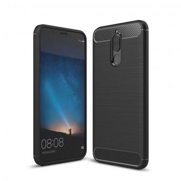 "Kryt TPU gel ""Brushed Carbon"" pro Huawei Mate 10 Lite - černý"
