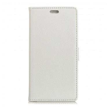 """Elegantní kryt z umělé kůže """"Litchi"""" pro Huawei Mate 10 Lite - bílý"""