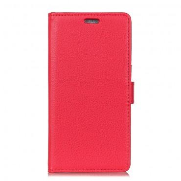 """Elegantní pouzdro """"Litchi"""" pro Huawei Mate 10 Lite z umělé kůže - červené"""