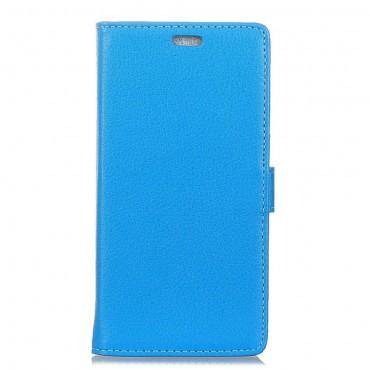 """Elegantní kryt z umělé kůže """"Litchi"""" pro Huawei Mate 10 Lite - modrý"""