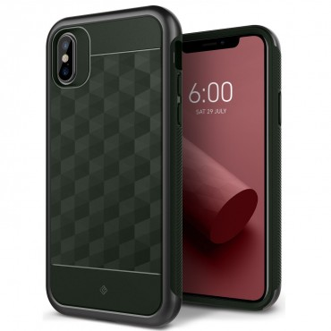 Kryt Caseology Parallax Series pro iPhone X - pine green