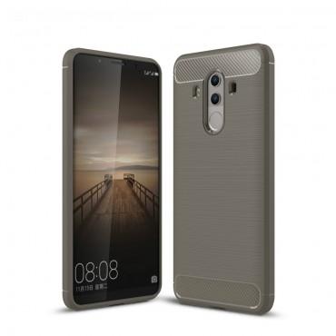 "Kryt TPU gel ""Brushed Carbon"" pro Huawei Mate 10 Pro - šedý"