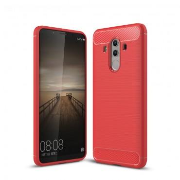 "Kryt TPU gel ""Brushed Carbon"" pro Huawei Mate 10 Pro - červené"