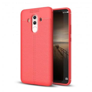 "Kryt TPU gel ""Litchi"" pro Huawei Mate 10 Pro - červené"