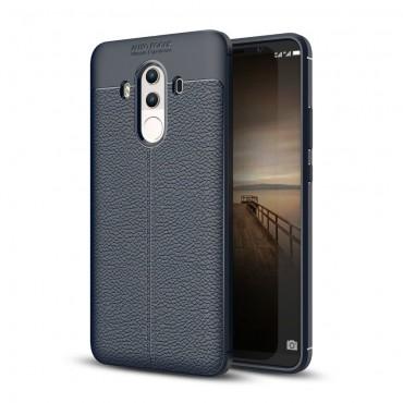 """Kryt TPU gel """"Litchi"""" pro Huawei Mate 10 Pro - tmavě modrý"""