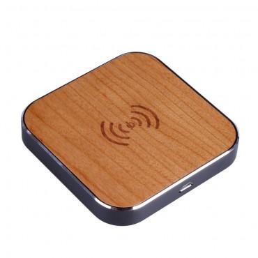 """Nabíjecí stanice """"Wood"""" pro všechna mobilní zařízení s technologií QI"""