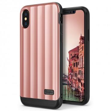 "Kryt Ringke ""Flex S Pro"" pro iPhone X - rose pink"