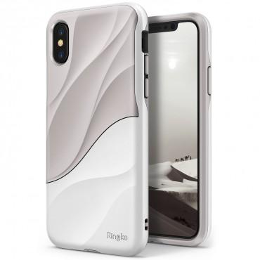 "Kryt Ringke ""Wave"" pro iPhone X - gray white"