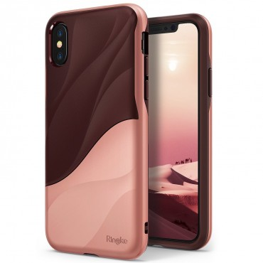 """Kryt Ringke """"Wave"""" pro iPhone X - rose blush"""