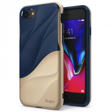 "Obal Ringke ""Wave"" pro iPhone 8 / iPhone 7 - modro zlatý"
