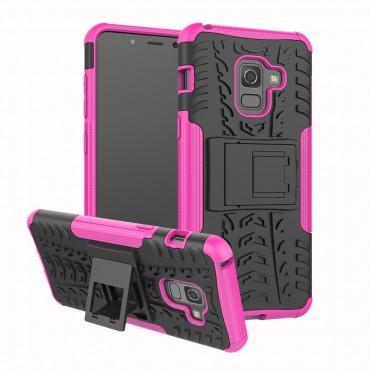 """Hybridní kryt TPU gel """"Tough"""" pro Samsung Galaxy A8 2018 - růžový"""
