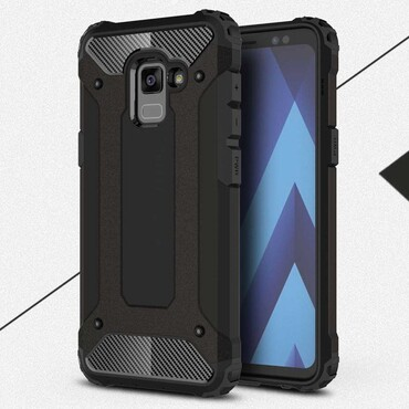 """Robustní obal """"Rock"""" pro Samsung Galaxy A8 2018 - černý"""