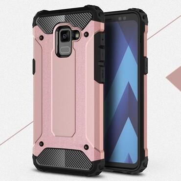 """Robustní obal """"Rock"""" pro Samsung Galaxy A8 2018 - růžový"""