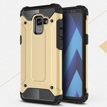 """Robustní obal """"Rock"""" pro Samsung Galaxy A8 2018 - zlaté barvy"""