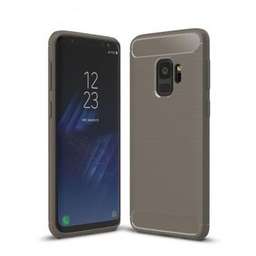 "TPU gelový obal ""Brushed Carbon"" pro Samsung Galaxy S9 - šedý"