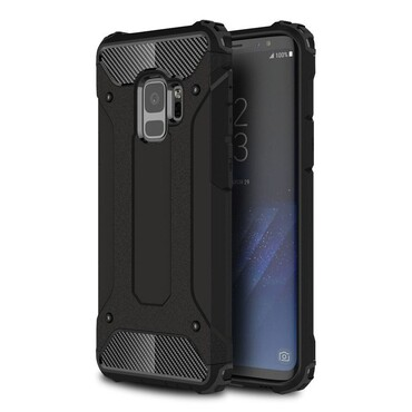 """Robustní kryt """"Rock"""" pro Samsung Galaxy S9 - černé"""