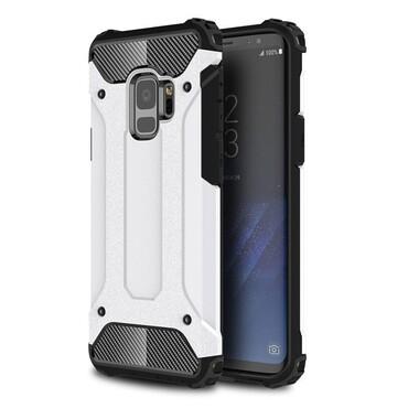 """Robustní obal """"Rock"""" pro Samsung Galaxy S9 - bílý"""