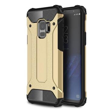 """Robustní obal """"Rock"""" pro Samsung Galaxy S9 - zlaté barvy"""