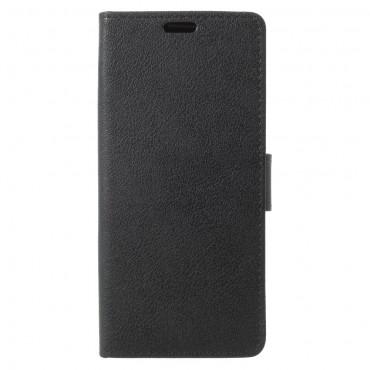 """Elegantní kryt z umělé kůže """"Litchi"""" pro Samsung Galaxy S9 - černý"""
