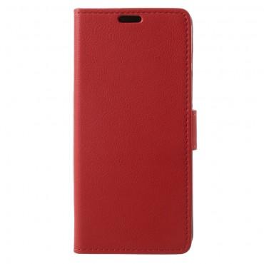 """Elegantní kryt z umělé kůže """"Litchi"""" pro Samsung Galaxy S9 - červený"""