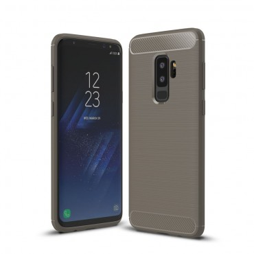 "TPU gelový obal ""Brushed Carbon"" pro Samsung Galaxy S9 Plus - šedý"