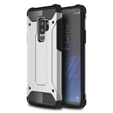 """Robustní obal """"Rock"""" pro Samsung Galaxy S9 Plus - stříbrný"""