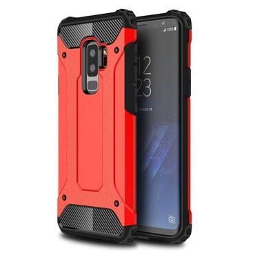 """Robustní kryt """"Rock"""" pro Samsung Galaxy S9 Plus - červené"""