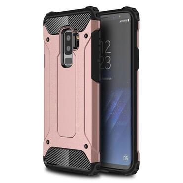 """Robustní obal """"Rock"""" pro Samsung Galaxy S9 Plus - růžový"""