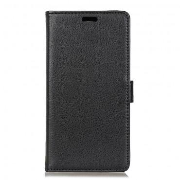 """Elegantní kryt z umělé kůže """"Litchi"""" pro Samsung Galaxy S9 Plus - černý"""