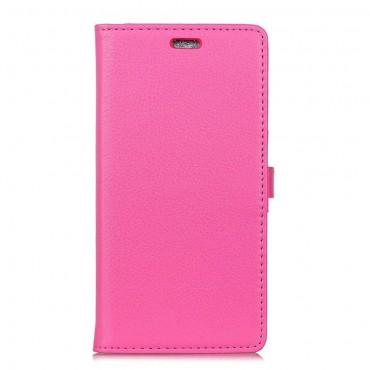 """Elegantní pouzdro """"Litchi"""" pro Samsung Galaxy S9 Plus z umělé kůže - růžové"""