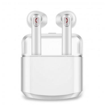 """Bezdrátová Bluetooth sluchátka """"Duo"""" s přenosným nabíjecím pouzdrem - bílá"""
