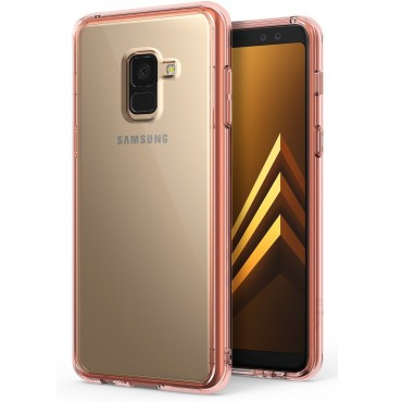 "Kryt Ringke ""Fusion"" pro Samsung Galaxy A8 2018 - rose gold"