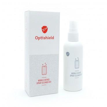 Optishield 2v1 čistící sprej a hadřík z mikrovlákna pro čištění obrazovky