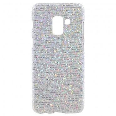 """Třpytivý obal """"Disco Glitter"""" pro Samsung Galaxy A8 2018 - stříbrný"""