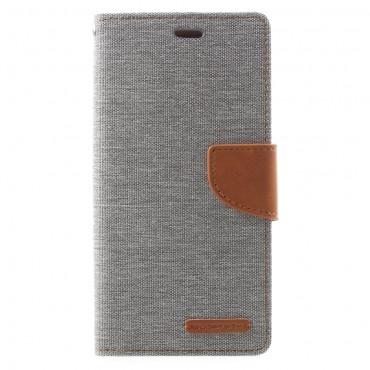 Pouzdro Goospery Canvas Diary pro Samsung Galaxy A8 2018 - šedé