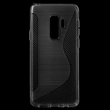 "Kryt TPU gel ""S-Line"" pro Samsung Galaxy S9 Plus - průhledný"