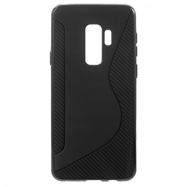 "Kryt TPU gel ""S-Line"" pro Samsung Galaxy S9 Plus - černý"