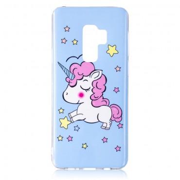 """Kryt svítící ve tmě """"Unicorn"""" pro Samsung Galaxy S9 Plus"""